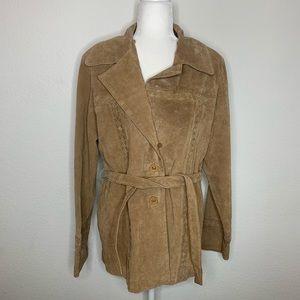 BKE Leather Pea Coat